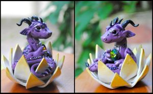 Grape Bubblegum Lotus Dragon by ApostacyArt