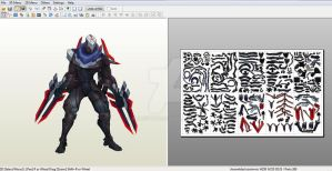 Project: Zed - Papercraft model template by alicestuff