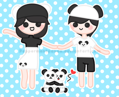 Panda Couples by PeppermentPanda