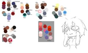 I tried to organize colours part 1 by Chibi-Works