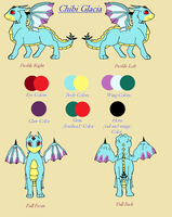 Chibi Glacia Reference Sheet by TheDragonInTheCenter