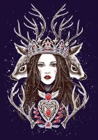 Queen Of Antlers by Esquirol