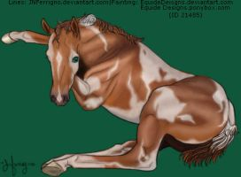 Chestnut Paint Filly by EquideDesigns