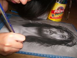 me drawing Jesus Christ by joanne-1305