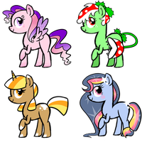 Pony Adoptables! by Sketchcee