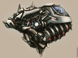 Alien spaceship concept by N7U2E