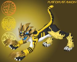 Digimon OOO: Ratoratamon by FlamedramonX20