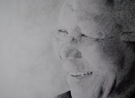 Nelson Mandela Drawing by Swaal