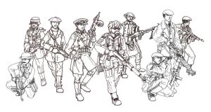 British Resistance Fighters by GeneralVyse