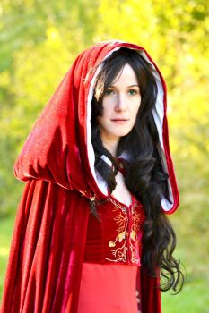 Red Cloak Morgana Merlin BBC by oelfe