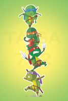 TMNT: Turtle Pyramid by Taisa732