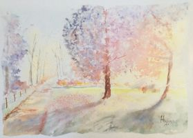 The effect of october 2 by SteveHeggenAquarelle