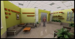 waiting area -Interior design2 by Abdelmajeed