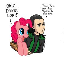 Pinkie Pie ft Loki by Koumaki