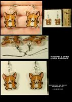 Corgi Pup Earrings by CatharsisJB