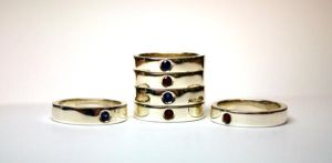 Silver rings with gemstones by LARvonCL