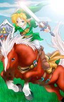 Link and Epona by Jelouse-Love