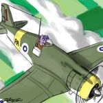 Twlight Flying a G.50 Freccia by johnjoseco