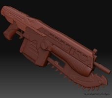 Gears of War Lancer by KonstantinL
