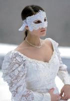 lace mask in snow by eyefeather-stock