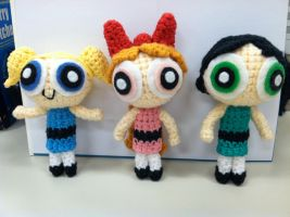 Amigurumi Powerpuff Girls by NerdStitch