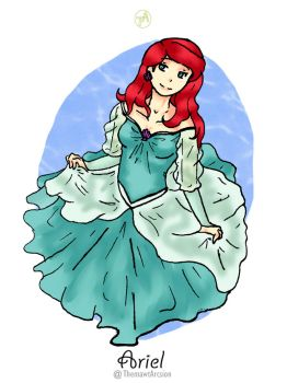 Disney Girl Challenge 28: Ariel by ThemawtArcsion