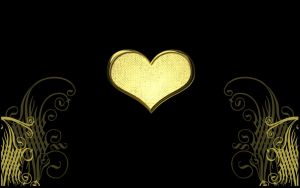 gold heart by maryduran