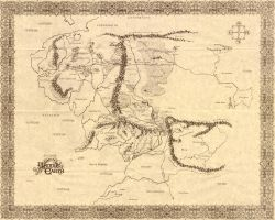 Middle-Earth Map by DragonsTigerLilly