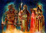 Mandalorian Deities by markmchaley