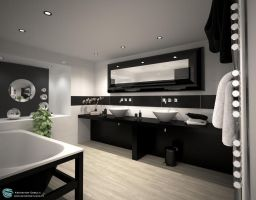 Evermotion Bathroom by zipper