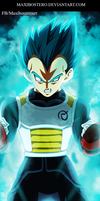 Vegeta  SSJ God Blue Dragon Ball Super 7 by Maxibostero