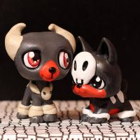 Houndoom and Houndour LPS customs by pia-chu