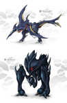 Dark Fake Legendary Pokemon by Mark-MrHiDE-Patten