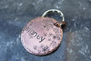 Starry Dog Tag by duckey5