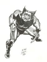 Old School Wolverine by jlbhh1977