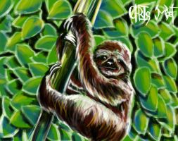 The Mighty Sloth by chrismoet