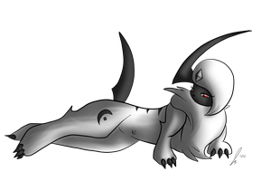 Zypher the Absol by jaclynonacloud