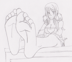 Lucy's Soft Feet by SpriteFeetFetish