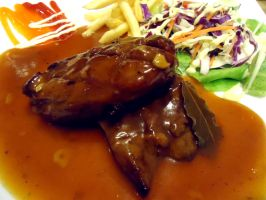 Lamb Steak with BBQ Sauce by vungoclam