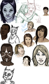 Dat New Tablet Sketchdump by Hearts-Are-Cold