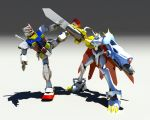 Gundam vs Omegamon by MightyDargor