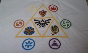 LoZ OOT cross stitch by megatonabomb