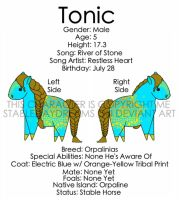 My Boy Tonic! by StableDaydreams