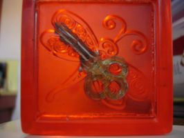 Dragonfly with Key by butterflypromqueen