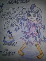 Angry Girls/Angry Birds: Indigo Bird Girl by MeganLovesAngryBirds