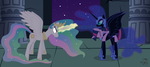 Nightmare Moon Kidnaps Twilight Sparkle by 90Sigma