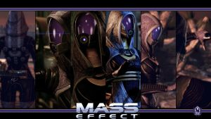 Mass Effect Wallpaper - Tali'Zorah by Ainyan42