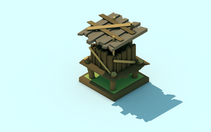 Low Poly Tower by LowWater