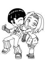 Rock Lee and Sakura in progres by MoostarGazer