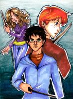 Another Harry Potter trio pic by fluffy-fuzzy-ears